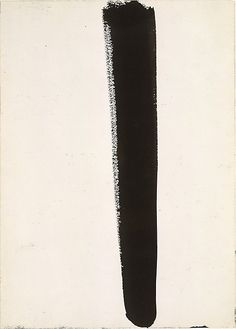 Untitled Barnett Newman (American, New York 1905–1970 New York) Date: 1960  Medium: Ink on paper  Dimensions: H. 14, W. 10 inches (35.6 x 25.4 cm.)