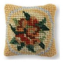 Alice (blue) dollhouse needlepoint cushion kit