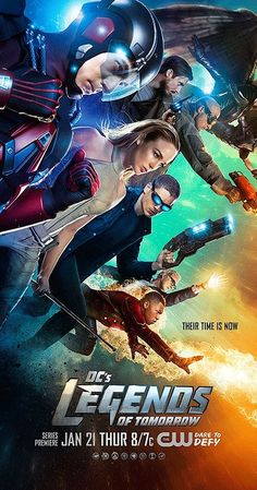 Created by Greg Berlanti, Andrew Kreisberg, Marc Guggenheim.  With Victor Garber, Brandon Routh, Caity Lotz, Arthur Darvill. Focuses on time-traveling rogue Rip Hunter, who has to recruit a rag-tag team of heroes and villains to help prevent an apocalypse that could impact not only Earth, but all of time.