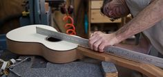 In the luthier shop - building a Lichty Dream Guitar