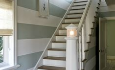 Love the lighthouse staircase and the stripes!