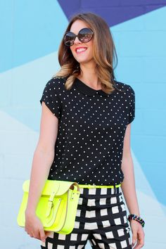 Pattern Mix Up With A Touch Of Neon Date Outfits Trendy Outfits Summer Outfits