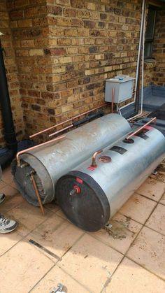 heat pump / geyser installation Heat Pump, Plumbing, Hands, Outdoor Decor, Home Decor, Decoration Home, Heat Pump System, Room Decor, Home Interior Design