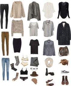 the perfect wardrobe...missing some hiking stuff but other than that...