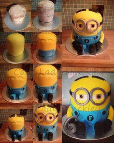 My Minion Cake. By cake lady hinckley Www.facebook.com/cakeladyhinckley Step by step #tutorial