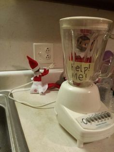Funny Elf on a Shelf idea