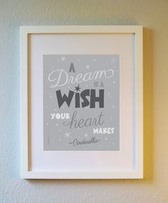Cute Art Print  Cinderella Quote 5x7 8x10 11x14. by evincedesign
