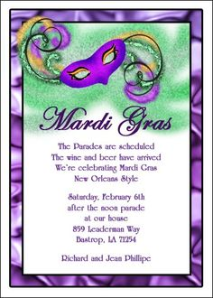 customize your creative Mardi Gras invitations with gold Fleur de