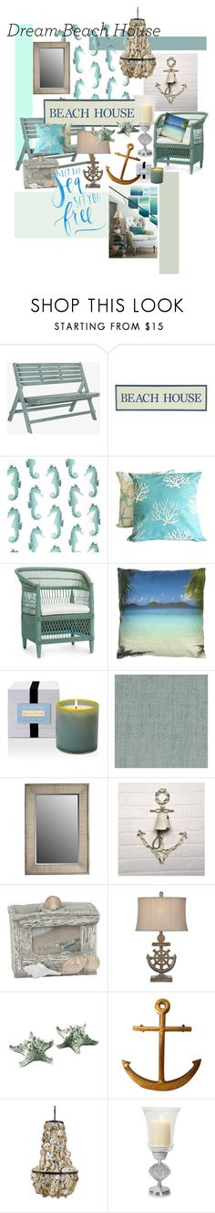 """Beach house"" by charisloves ❤ liked on Polyvore featuring interior, interiors, interior design, home, home decor, interior decorating, Safavieh, Pier 1 Imports, DutchCrafters and Quahog Bay Bedding"