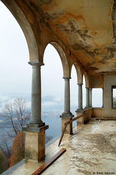 An abandoned sanatorium in Agra, Switzerland on the southern slopes of the Alps. Closed in 1969. must have been very nice.