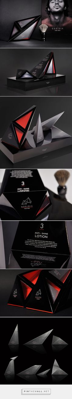 OBSIDIA beauty concept packaging designed by Simin Li, Chenchen Hu, Rong Yan & Shijia Gu - http://www.packagingoftheworld.com/2015/09/obsidia-student-project.html