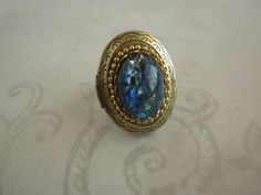 The Ring Of Neptune is a Poison Ring  Embellished by TheQuietbee, $18.50