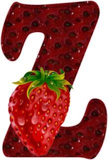Apetecible alfabeto de Fresas. | Oh my Alfabetos!