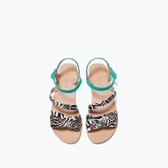 ANIMAL PRINT LEATHER SANDAL-Sandals-Shoes-Girl (3-14 years)-KIDS | ZARA Spain