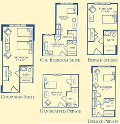 assisted living facility dementia friendly floor plan - Google Search
