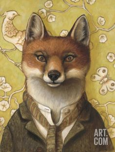 Mr. Fox Art Print by Jayne Siroshton at Art.com
