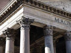 Corinthian entablature and capitals, Pantheon, Rome