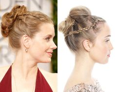 Hair How-To! Learn how to create the GORGEOUS braided updo Amy Adams rocked at the #GoldenGlobes
