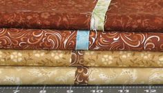 Stash Builder! Four 1-Yard Cuts in Shades of Brown, Tan, and Rust, Cotton Quilt Fabric Bundle for Sale, Blender Fabric by fabric406 on Etsy