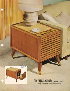 1954 ZENITH Chairside Radio-Phonograph Model L846H Dealer Sales Sheet | USA