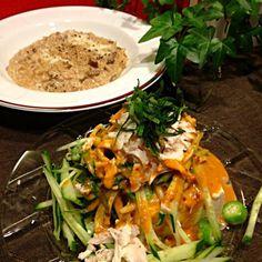 Tmokoさんの八丁味噌の冷やし中華の具を冷や奴にのせました ポルチーニ茸のリゾット   和なのか中華なのか洋なのか、とりあえずお腹が一杯になりました。  Tomokoさんの八丁味噌ダレ、美味しかったです - 163件のもぐもぐ - Tomokoさんの八丁味噌の冷やし中華の具を豆腐にのせました by Mina0602