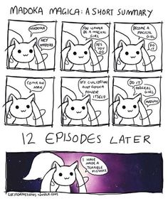 Fuck you Kyubey! (Previous pinner and I have similar feelings)