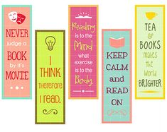 bookmarks for adults with quotations on reading - Google Search