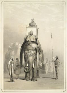 The Raja of Putteealla [Patiala] on his state elephant, Emily Eden, 1844