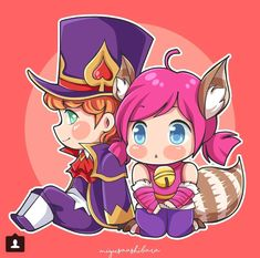 Chibi Harley ❤ Nana by Miyusa Ashibara Mobiles, Miya Mobile Legends, Wolf Children, The Legend Of Heroes, Mobile Legend Wallpaper, A Hat In Time, Star Trek Into Darkness, Gaming Wallpapers, Best Couple