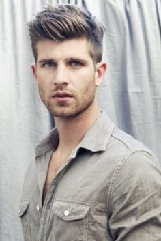 Strong, masculine, classic. #hairstyle #menshairstyle #hair Learn more about men's hair at www.emersonsalon.com