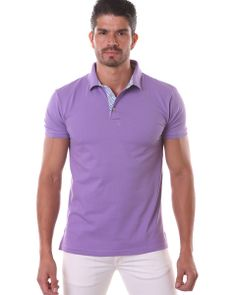 Purple polo shirt for men by Jared lang Purple Outfits 8fe5c7d51
