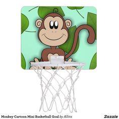Monkey Cartoon Mini Basketball Goal Mini Basketball Backboard