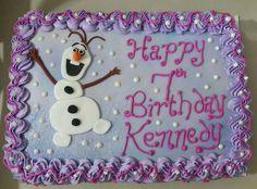 Olaf Birthday Cake, Birthday Sheet Cakes, 3rd Birthday, Birthday Ideas, Frozen Party Cake, Frozen Birthday Party, Birthday Parties, Pastel Frozen, Olaf Cake