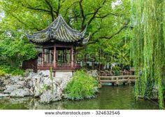 Traditional Chinese private garden - Yu Yuan, Shanghai, China - stock photo