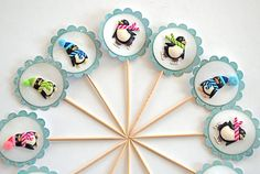 Penguin Pals Cupcake Toppers
