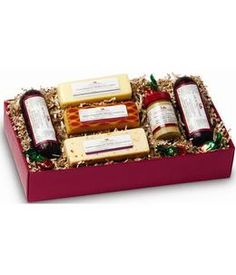 This Hickory Farms - Friends and Family Collection from GrowerDirect.com is the perfect gift for meat & cheese lovers! Featuring a delicious collection of cheese and sausages!