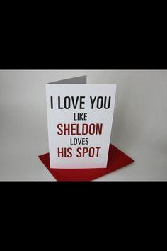 Yup, this one's for my man! lol I LOVE YOU BABE!!! #bigbangtheory #sheldon