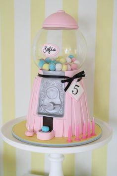 Gumball Machine CAKE! #cake #candy