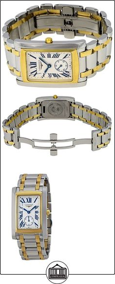 Longines Dolce Vita Stainless Steel & 18k Gold Mens Luxury Watch Silver Dial L5.655.5.70.7  ✿ Relojes para hombre - (Lujo) ✿