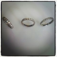 ring set. Platinum bands