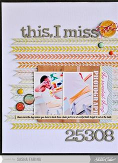 This, I Miss *Studio Calico October Kit* - Club CK - The Online Community and Scrapbook Club from Creating Keepsakes.