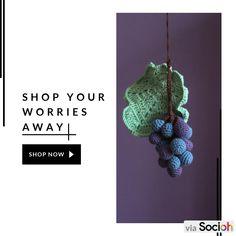 Crochet Fruit, Crochet Toys, Mobile Holder, Handmade Items, Handmade Gifts, Wooden Hangers, Play Food, Etsy Shipping, Baby Play