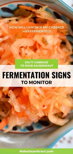 How will you know if your cabbage is already fermented? What fermentation signs should you monitor? Bubbles rising to the surface, smell, color, overflowing brine, dry sauerkraut. Watch out for these signs. This comprehensive guide will lead you through the fermentation process of homemade sauerkraut and other fermented vegetables. My Cabbages, Homemade Sauerkraut, Fermentation Recipes, Kimchi, Beets, Vegetable Recipes, Macaroni And Cheese, Monitor, Bubbles