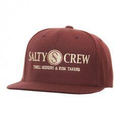 Salty Crew Mens Hat Rail Logo Burgundy