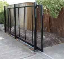 Sliding gate instead of swing gate back porch livin pinterest diy sliding gate kit solutioingenieria Images