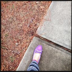 2.10.15 * A Peek Into The Life | Back to winter we go. And that means comfy clothes. And my purple, sparkly Ugg slippers. | The Struggle is real. | Sparkle makes it all better. Photography | Photo | Photograph | Artsy |