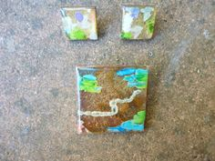 1990s Hilary Bravo Abstract Brooch and Earring Set by LMJVintage