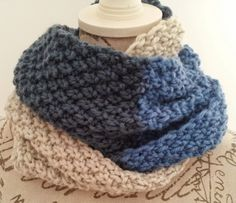 Neck Mediterranean Sea o'clock wheat / Mediterranean Sea in Double Seed Stitch Cowl - I weave . we weave Crochet Stitches, Knit Crochet, Crochet Patterns, Double Seed Stitch, Yarn Inspiration, Knit Picks, Knitting Accessories, Easy Knitting, Crochet Fashion
