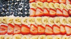 Paleo Red White & Blue Fruit Pizza, A treat for a 4th of July Picnic