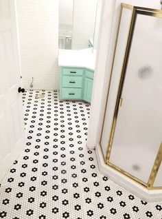 If there ever was such a thing as a time warp, I think I just walked through it.  The main bathroom floor in my house was definitely rocking the 1990's linoleum. As I mentioned in phase one, …
